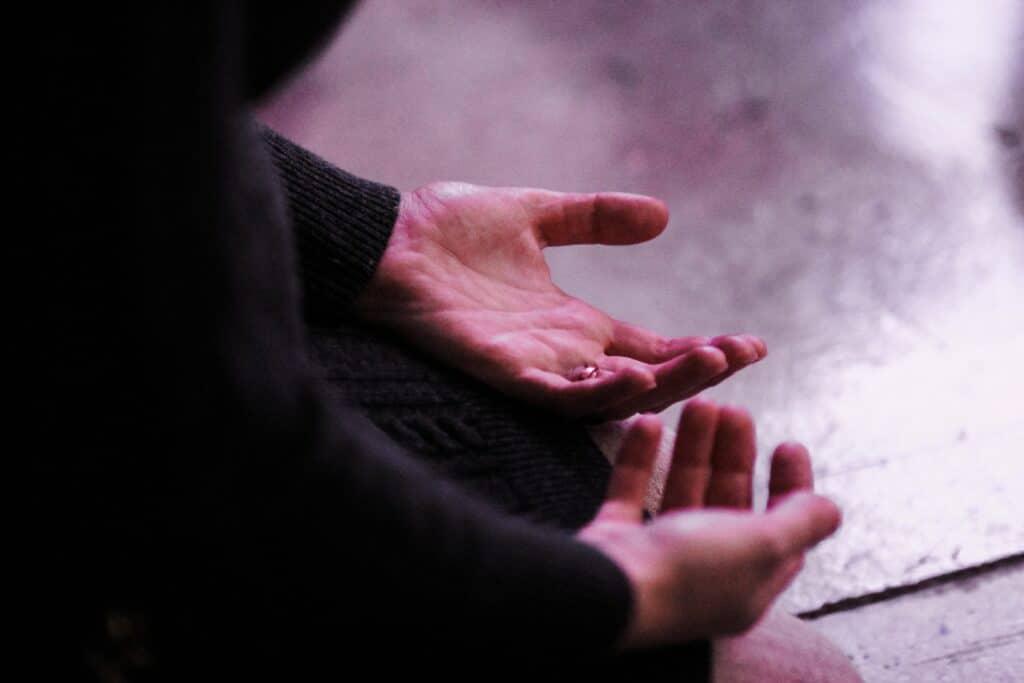 surrender hands